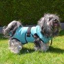 Chillcoat Hundebademantel by SuperFurDogs Aqua Green