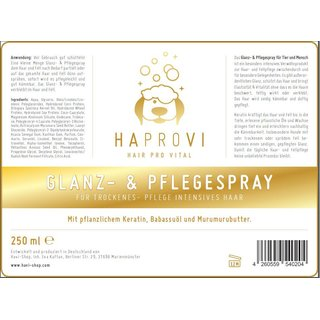 HAPROVI Glanz-& Pflegespray 250 ml